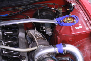 The turbo is too close to the unprotected brake master cylinder